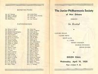 1950-04-19 Junior Philharmonic Society of New Orleans concert program