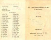 1948-11-19 Junior Philharmonic Society of New Orleans concert program