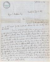 Letter from  George Burgess to Roger Baldwin