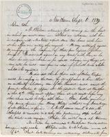 Letter from  Amos Townsend Jr. to Simeon S. Jocelyn and Joshua Leavitt