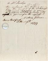 Letter from  Nathan Johnson to Simeon S. Jocelyn