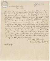 Letter from  C. Stockton Halsted to Arthur Tappan