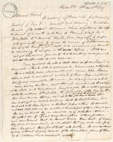 Letter from  Isaac Parrish to Joshua Leavitt