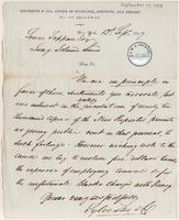 Letter from  Sylvester & Co. to Lewis Tappan