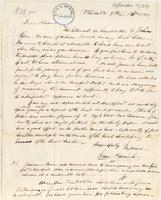 Letter from  Isaac Parrish to