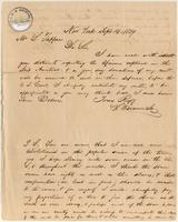 Letter from  S. Warriner Jr. to Lewis Tappan