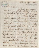 Letter from  Joshua Coffin  to Lewis Tappan