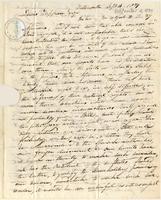 Letter from  William Claggett to Lewis Tappan