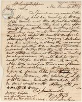 Letter from  Simeon S.  Jocelyn to Lewis Tappan