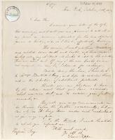 Letter from  Lewis Tappan to George E. Day