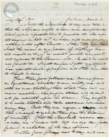 Letter from  H.G. Ludlow to