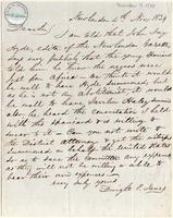 Letter from  Dwight P. Janes to Joshua Leavitt
