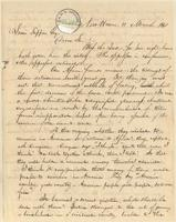 Letter from  Amos Townswnd Jr.  to Lewis Tappan