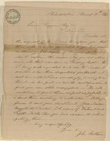 Letter from  John Sartain to Lewis Tappan