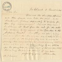 Letter from  A. Brooke  to Joshua Leavitt