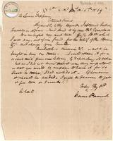 Letter from  Isaac Parish to Lewis Tappan