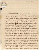 Letter from  A.A. Phelps to Lewis Tappan