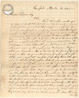 Letter from  Bancroft Fowler  to Lewis Tappan