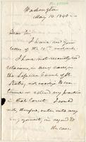 Letter from  Daniel Webster to Lewis Tappan
