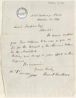Letter from  Hunt Brothers to Lewis Tappan