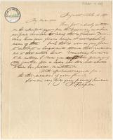 Letter from  Benjamin Tappan to