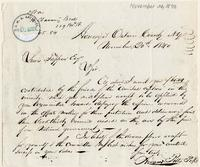 Letter from  Hiram Pitts to Lewis Tappan