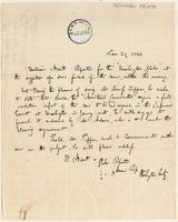 Note regarding a visit by William Hunt