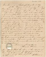 Letter from  Thomas Oliver to Lewis Tappan