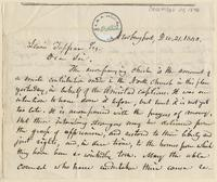 Letter from  L.F. Dimmick  to Lewis Tappan