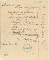 Inventory of payments made to the Anti-Slavery Depository by the Amistad Committee