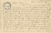 Letter from  Charles Kellogg  to Lewis Tappan