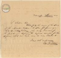 Letter from  George M. Rice  to Lewis Tappan