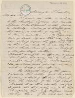 Letter from  John T. Norton  to Lewis Tappan
