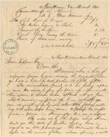 Letter from  Amos Townsend Jr. to Lewis Tappan