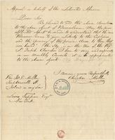 Letter from  Christian Miller  to Lewis Tappan