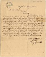 Letter from  Henry Green  to Lewis Tappan
