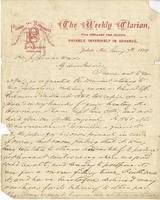 Letter from E[thelbert] Barksdale to Jefferson Davis