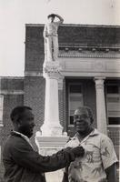 Rev. M.L. Kirkland in front of Neshoba County courthouse