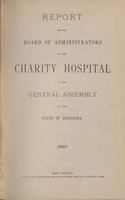 Charity Hospital Report 1893
