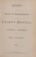 Charity Hospital Report 1896