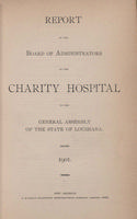 Charity Hospital Report 1901