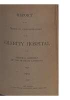 Charity Hospital Report 1903