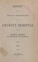 Charity Hospital Report 1907