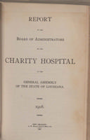 Charity Hospital Report 1908