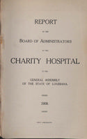 Charity Hospital Report 1909