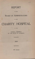 Charity Hospital Report 1910
