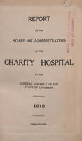 Charity Hospital Report 1912