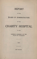Charity Hospital Report 1915