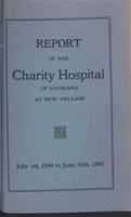 Charity Hospital Report 1944-1945