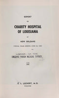 Charity Hospital Report 1954-1955